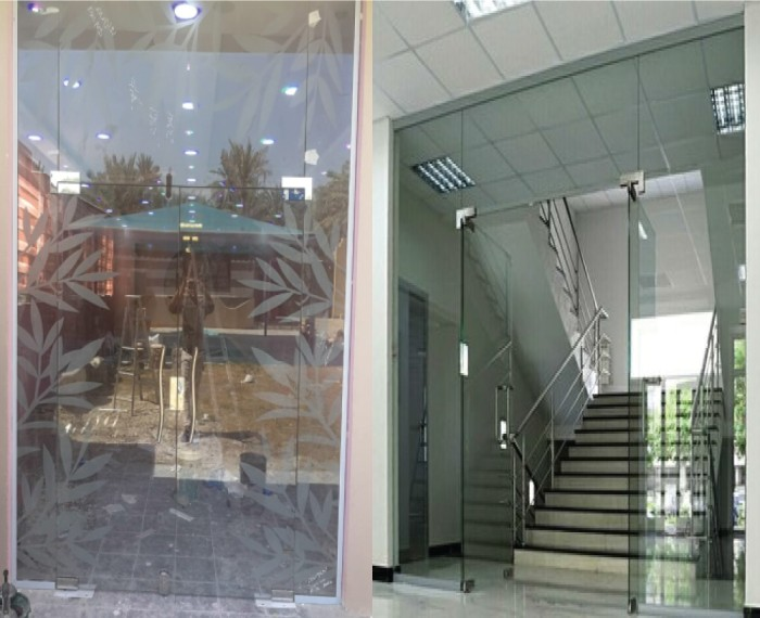 shops glass front partition